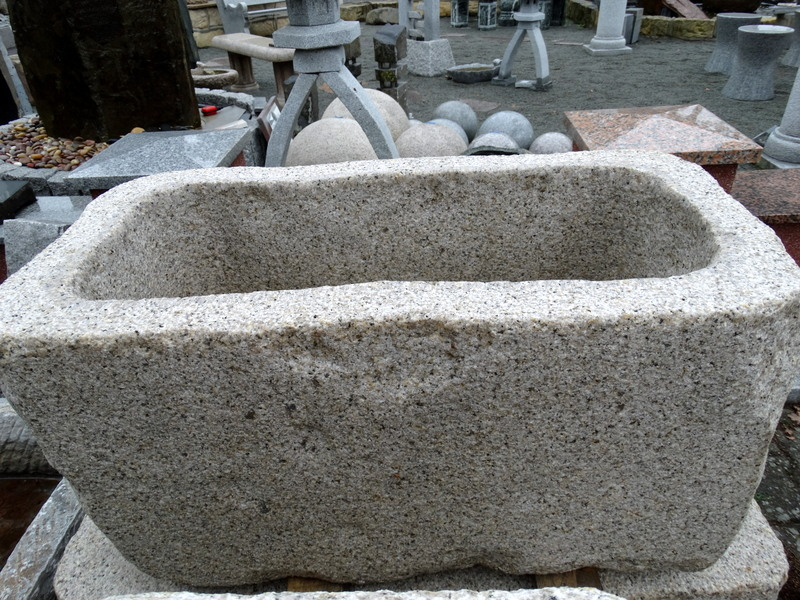 Pflanztrog Granit Gelb Bossiert 80